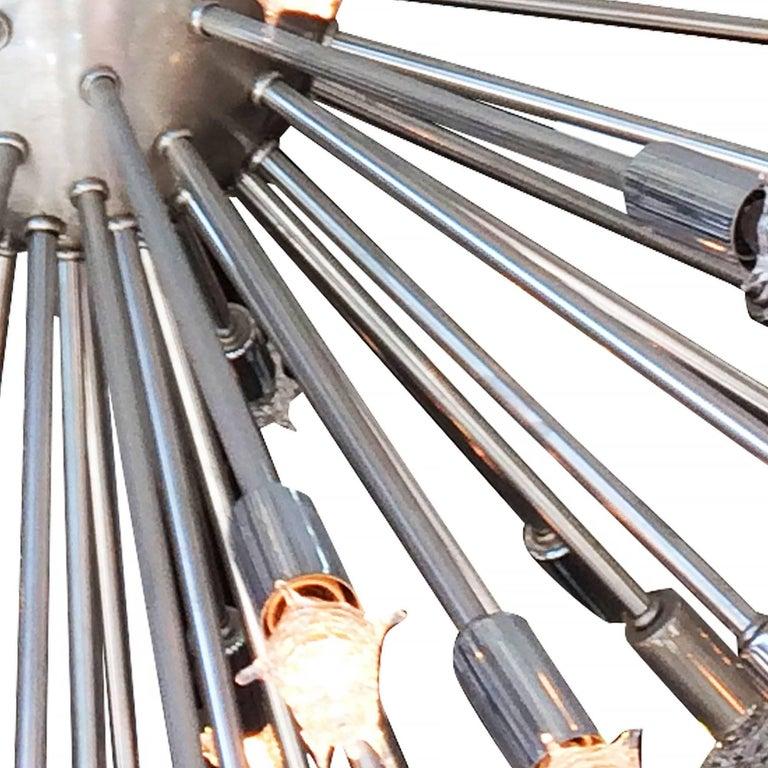 Steel Large Mid-Century Style Chrome Multi-Light Sputnik Chandelier  **Saturday Sale** For Sale
