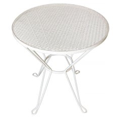 Woodard Round Mesh Steel Outdoor/Patio Side Table, circa 1950