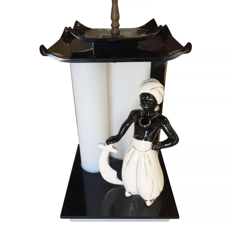 Mid-Century Arabian Inspired Lucite Sculptural Lamp by Moss