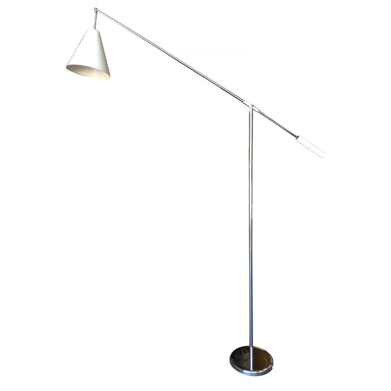 Robert Sonneman Style Chrome Floor Lamp