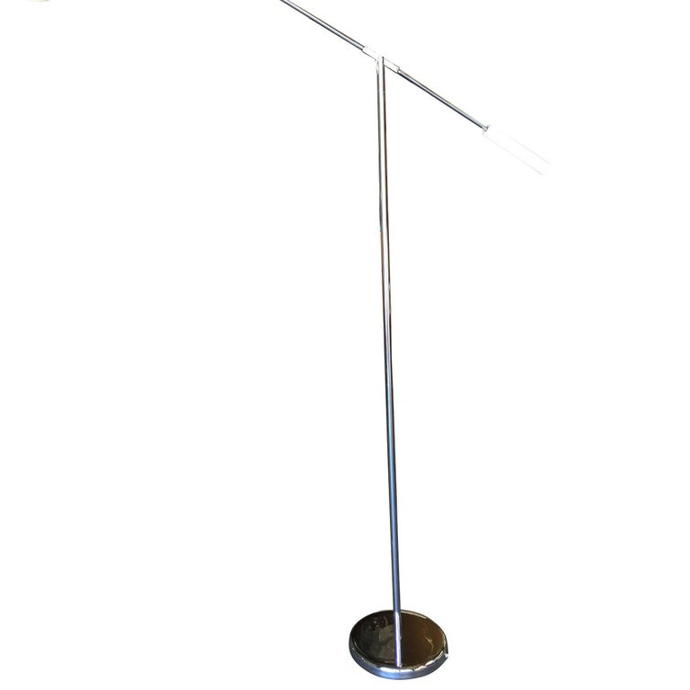 Robert Sonneman Style Chrome Floor Lamp 3