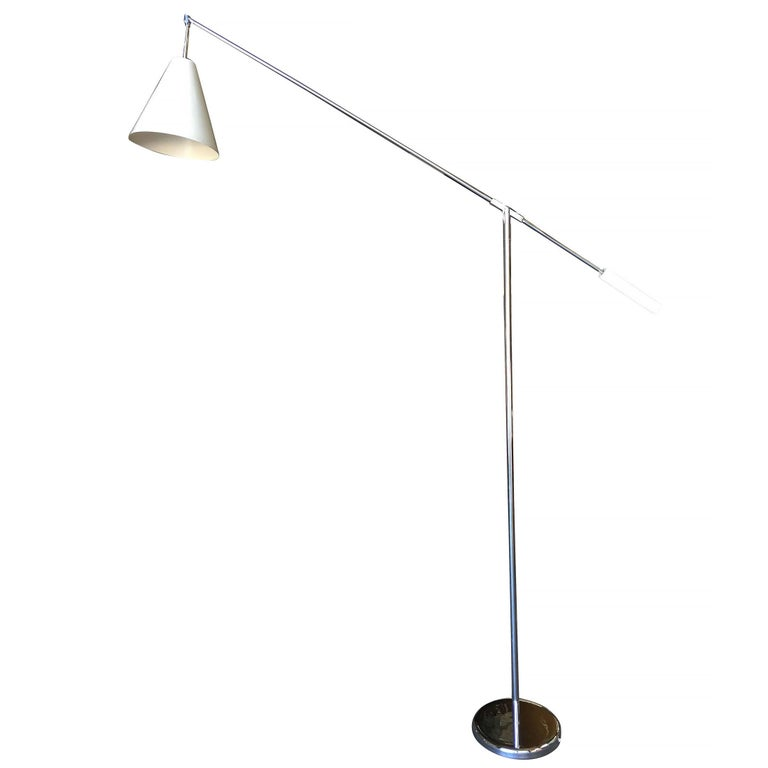 Robert Sonneman Style Chrome Floor Lamp 2