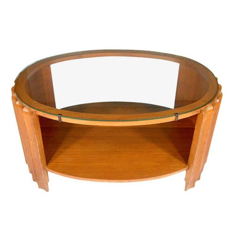 Art Deco Scalloped Coffee Table Attributed to Paul Frankl