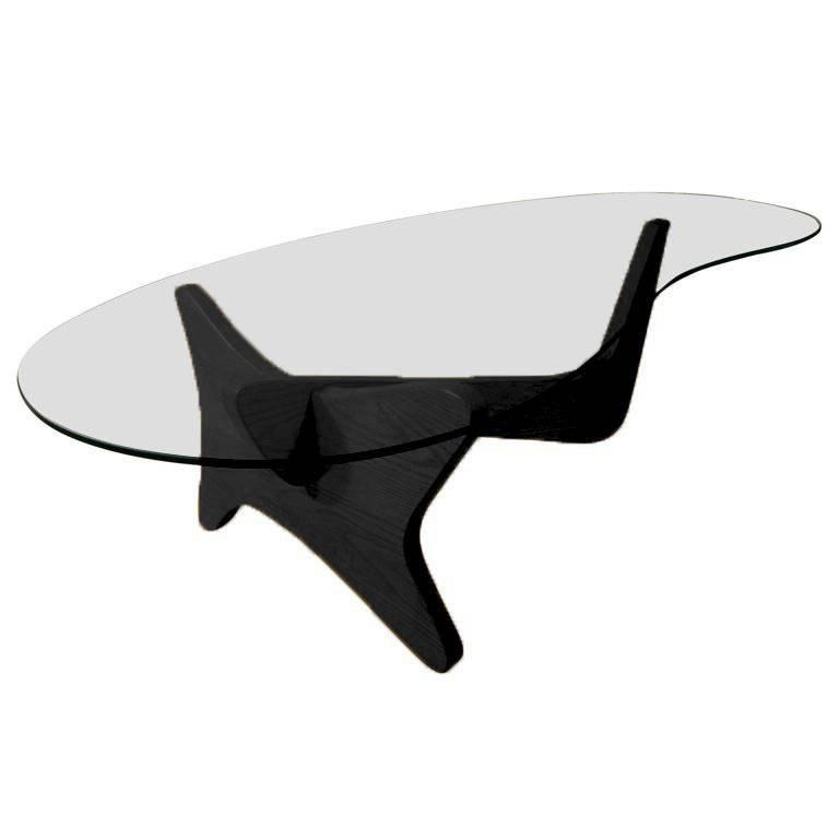 Mid Century Noguchi Style Biomorphic Airplane Coffee Table