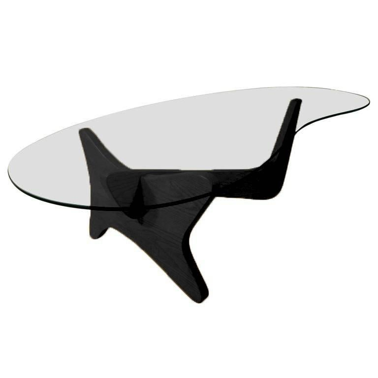 """Mid-Century Modern Noguchi Style Lacquer Biomorphic """"Airplane"""" Coffee Table"""
