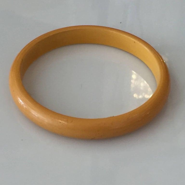 Set of Two Art Deco Butterscotch Amber Bakelite Bangles Bracelets For Sale 1