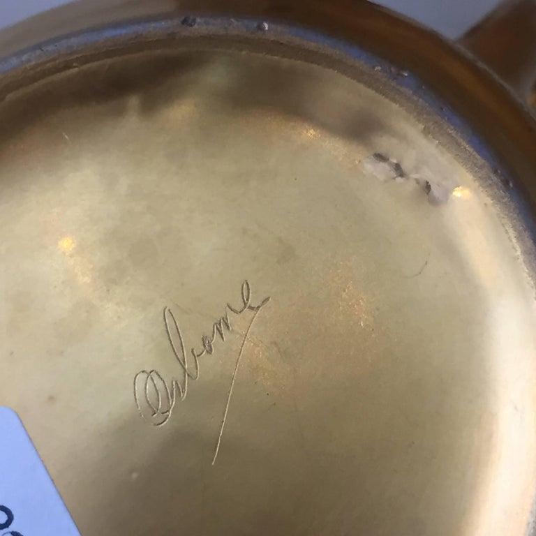 Set of Five Antique 18-Karat Porcelain Table Tea Limouge and Signed Osborne For Sale 1