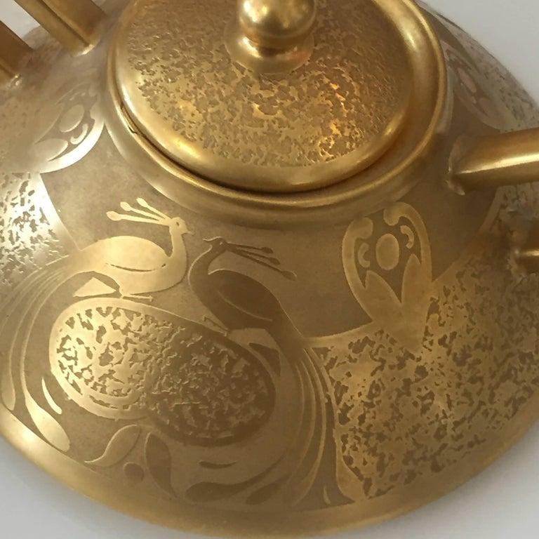 Set of Five Antique 18-Karat Porcelain Table Tea Limouge and Signed Osborne For Sale 2