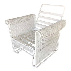 Woodard Mesh Steel Outdoor/Patio Side Glider Rocking Lounge Chair