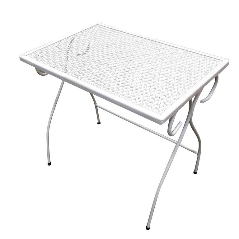 Woodard Mesh Steel Outdoor/Patio Side Table, circa 1950