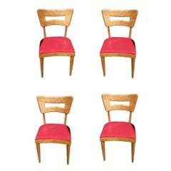 "Restored Heywood-Wakefield M154 ""DogBone"" Dining Chairs, Set of Four"
