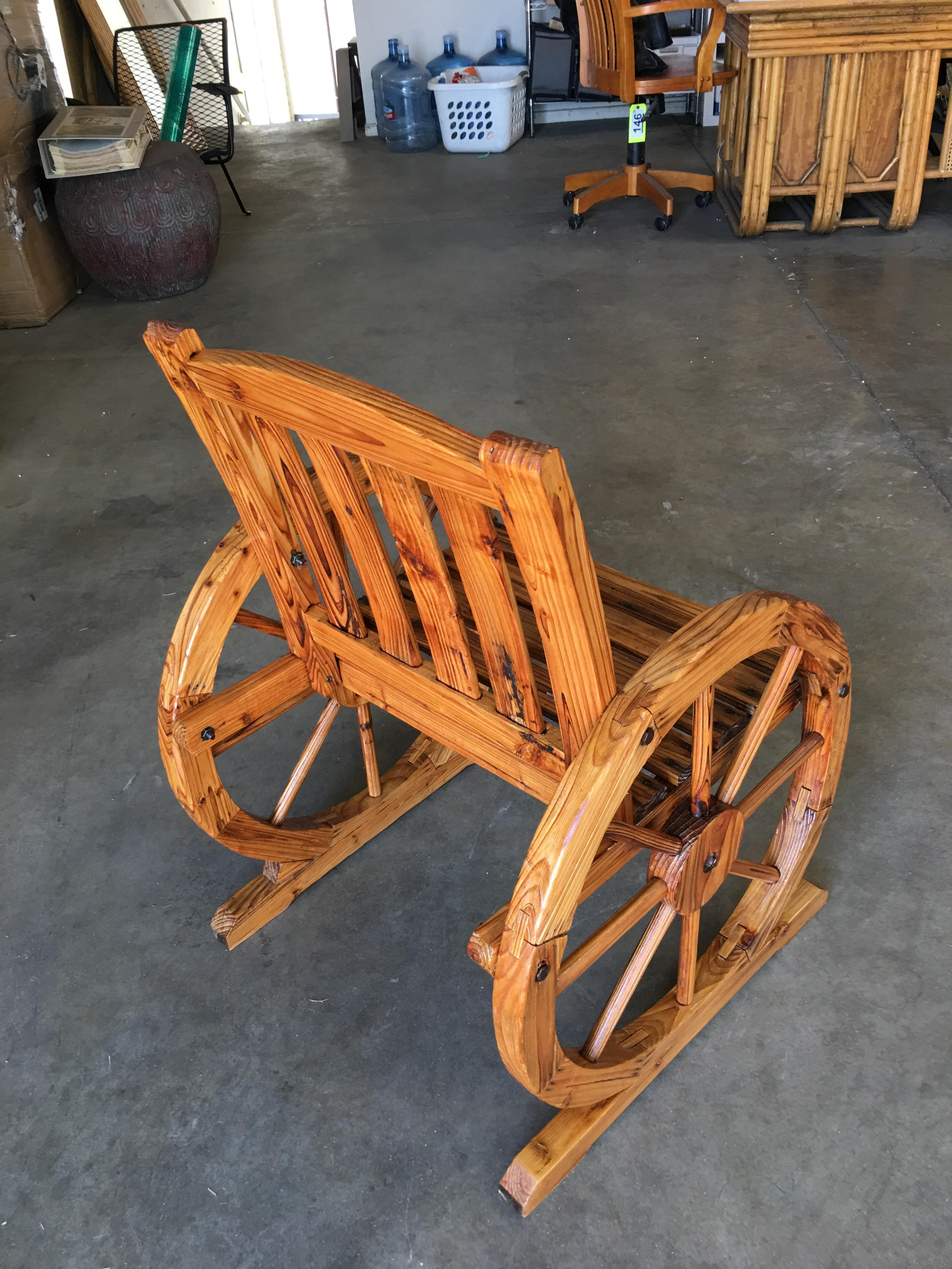 Western Folk Art Wagon Wheel Table And Chairs Set For Jpg 768x1024 Vintage 1950s