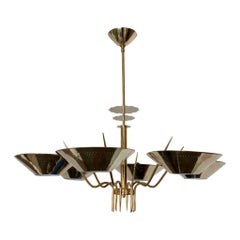 Custom Six-Arm Austrian Chandelier, circa 1950
