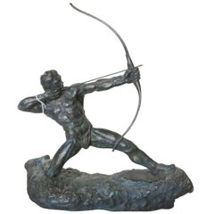 """Man with Bow"" Archer Sculpture by Thomas Holland"