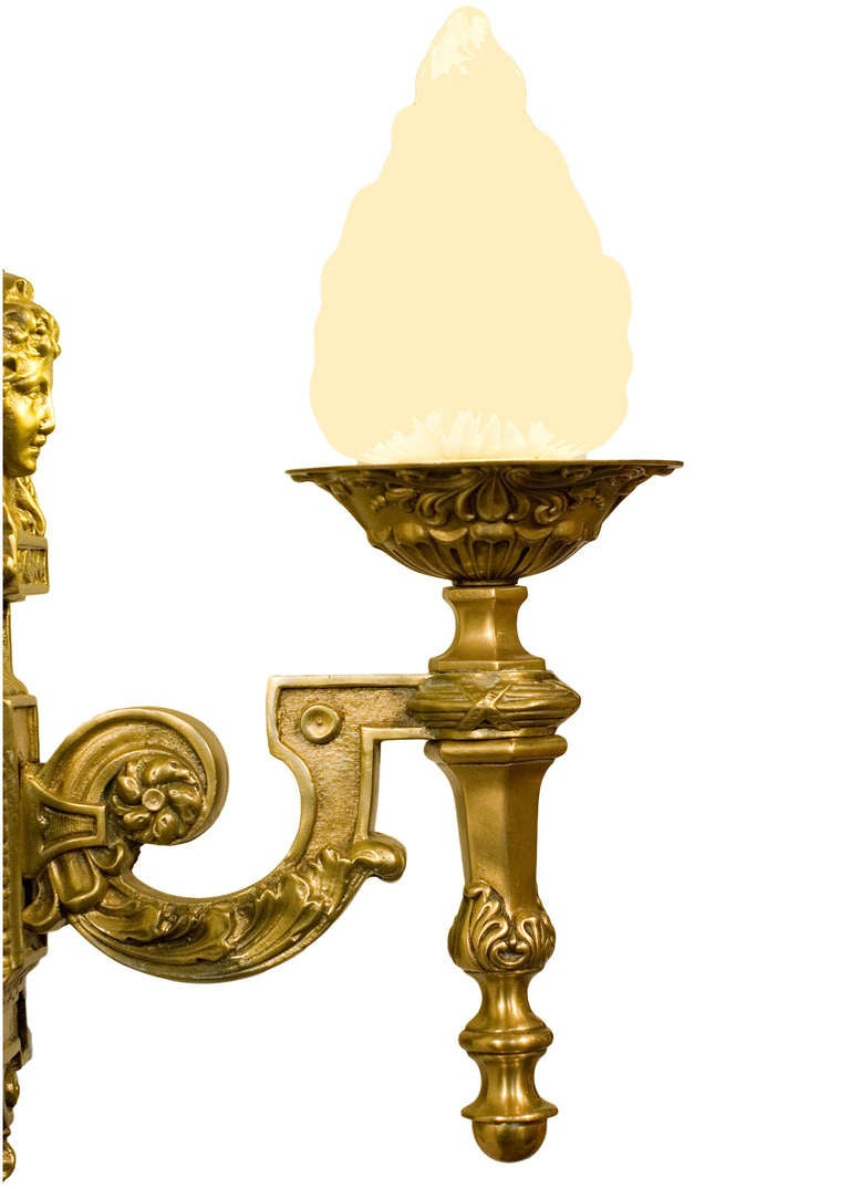 American Art Deco Inspired Liberty Sconce  For Sale
