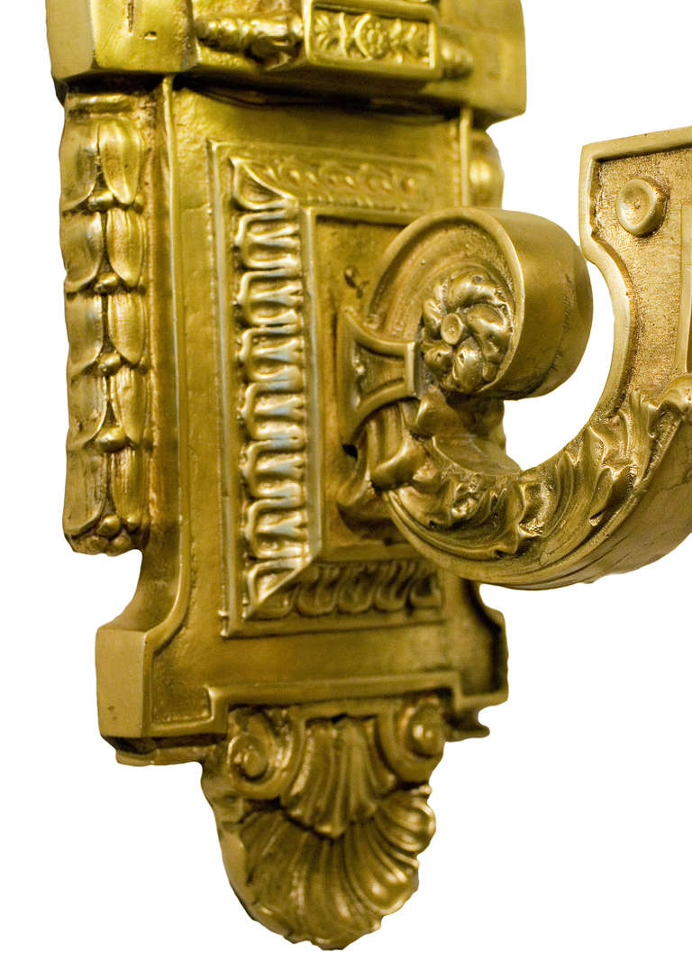 Art Deco Inspired Liberty Sconce  In Excellent Condition For Sale In Van Nuys, CA