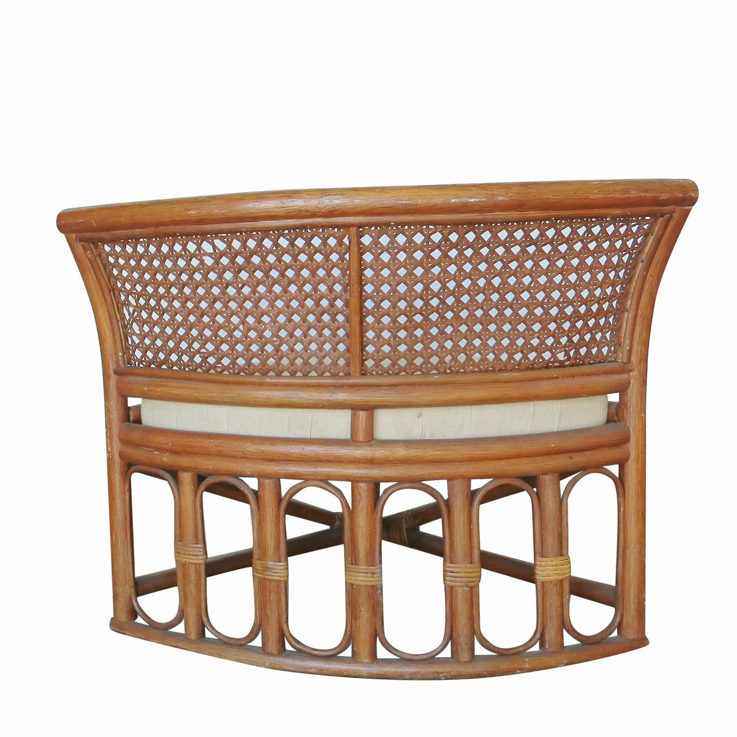 Rattan And Wicker Dining Coffee Table With Hidden Chairs At 1stdibs