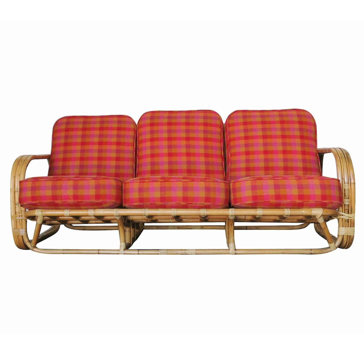 Streamline Art Deco Rattan Living Room Set For Sale At 1stdibs