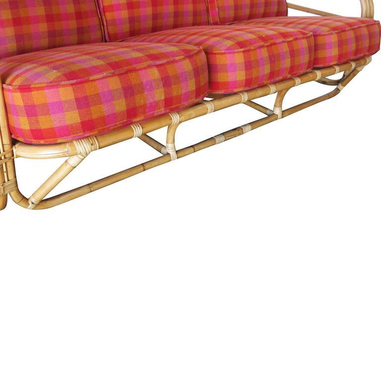 Restored streamline art deco rattan living room set for - Rattan living room furniture for sale ...