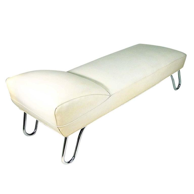 Kem weber art deco steamer chaise lounge daybed for sale at 1stdibs for Art deco style chaise lounge