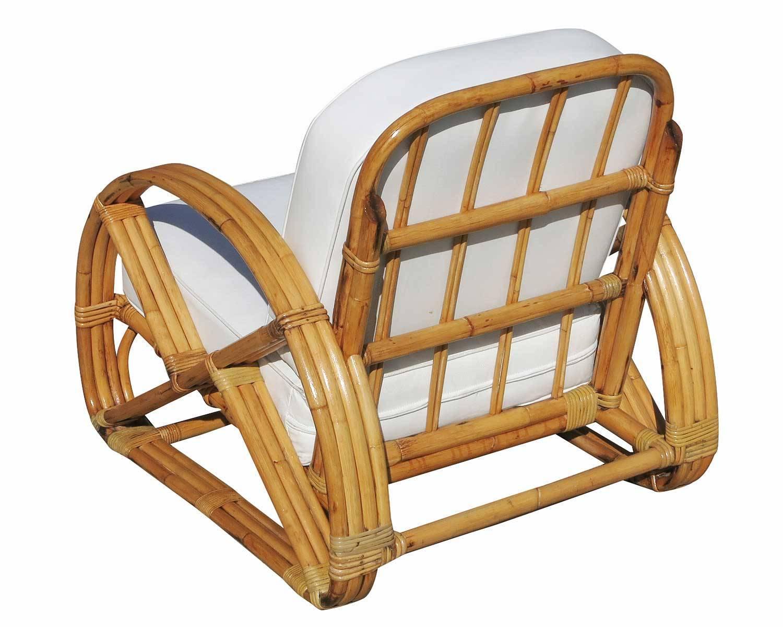frankl round pretzel arm rattan lounge chair pair for. Black Bedroom Furniture Sets. Home Design Ideas