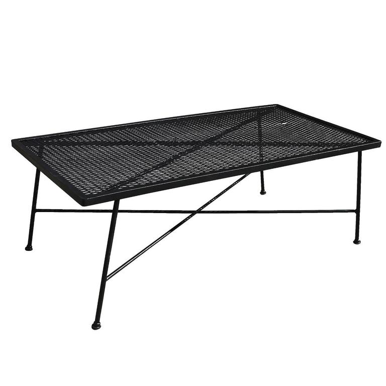 Wrought Iron And Mesh Low Outdoor Patio Coffee Table By Russell Woodard Company At 1stdibs