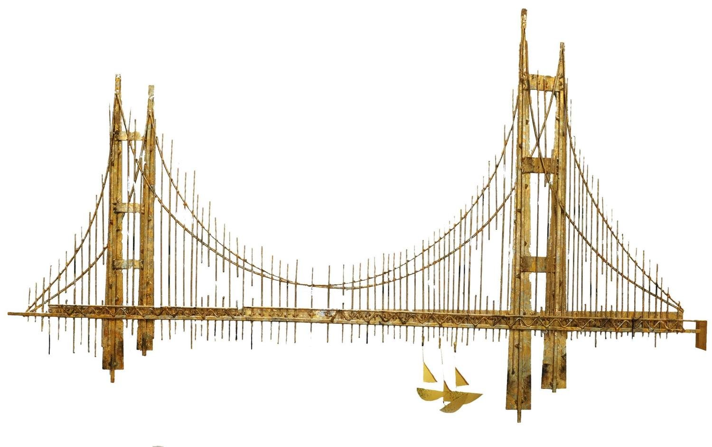 Curtis jere golden gate bridge sculpture for sale at 1stdibs for Golden gate bridge jewelry