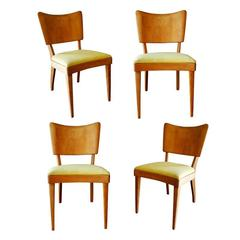 "Heywood Wakefield Closed ""Dogbone"" Dining Side Chairs, Set of Four"