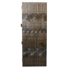 Billy Joe McCarroll and David Gillespe Brutalist Bronze Door with Custom Handle
