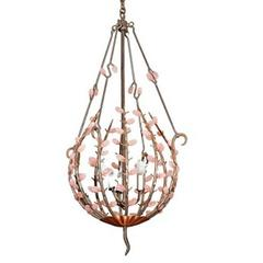 Andre Dubreuil Style Organic Natural Rock Crystal Stone Chandelier