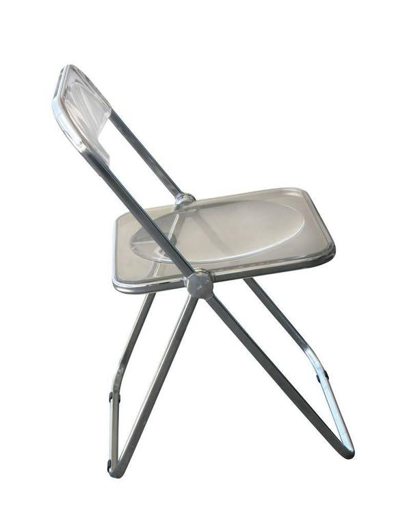 Vintage Lucite Folding U0026quot;Pliau0026quot; Chair By Giancarlo Pirettiu0027s For  Anonima Castelli. This