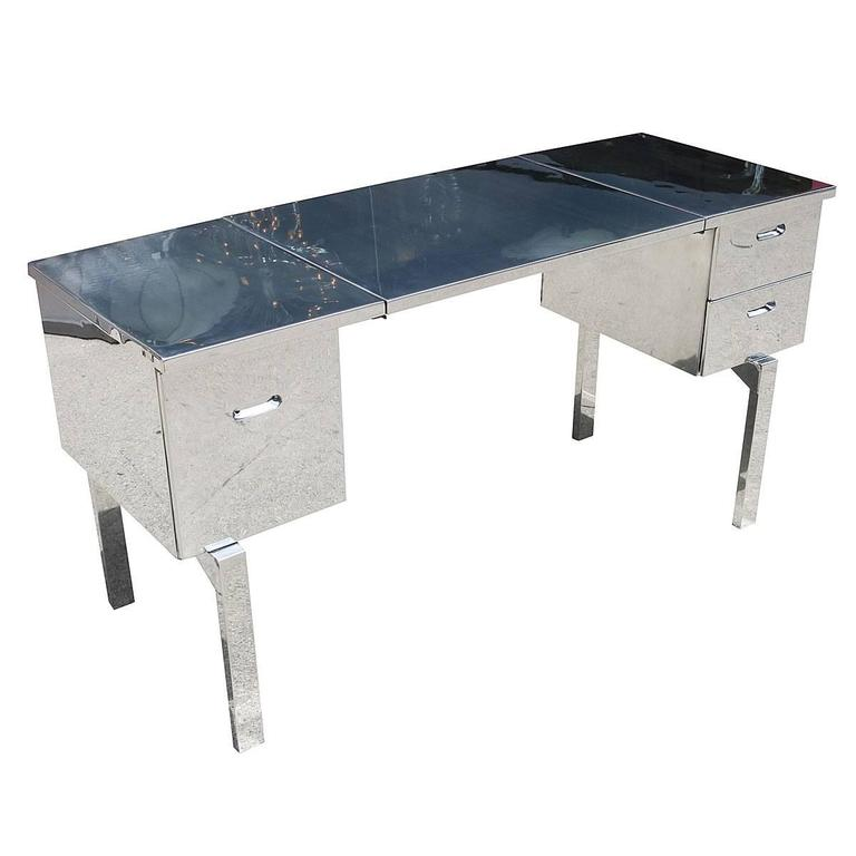 Polished Aluminum WWII Campaign Desk