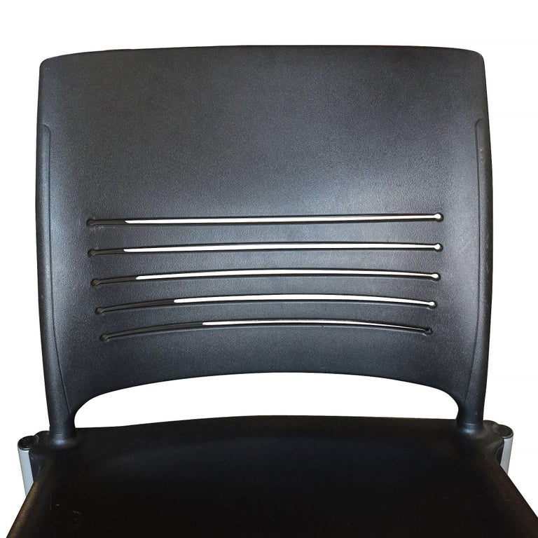 Contemporary Giancarlo Piretti Rolling Side Desk Chair by Strive, Set of 14 For Sale
