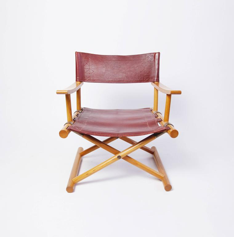 A director's chair designed for Nordiska Kompaniet in 1962 by Sune Lindström, the Swedish architect better known for designing the Kuwait Towers. 