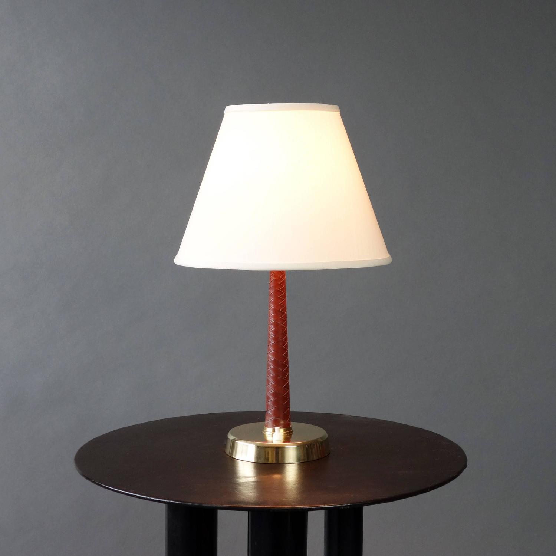 Hans bergstr 246 m leather wrapped table lamp for atelj 233 lyktan image 3