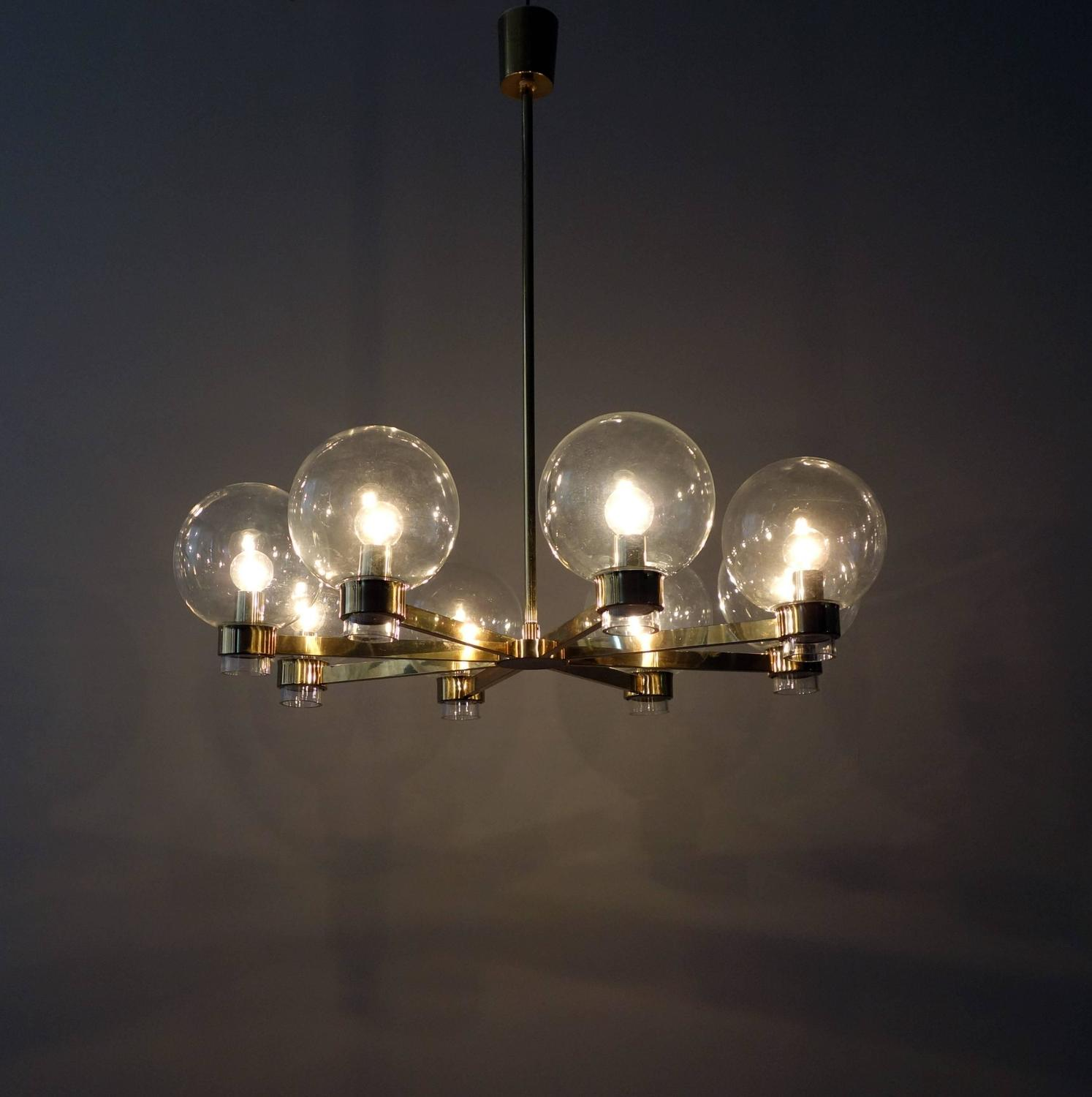 swedish modern eight arm chandelier at 1stdibs