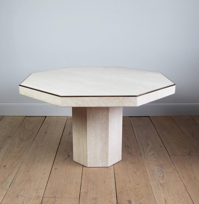 Octagon Dining Room Table: Octagonal Travertine Italian Dining Table At 1stdibs