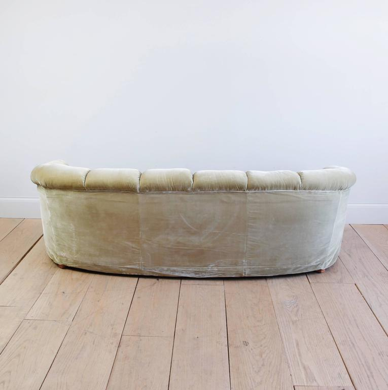 20th Century Rare Tufted Velvet Sofa by Anthony Hail For Sale