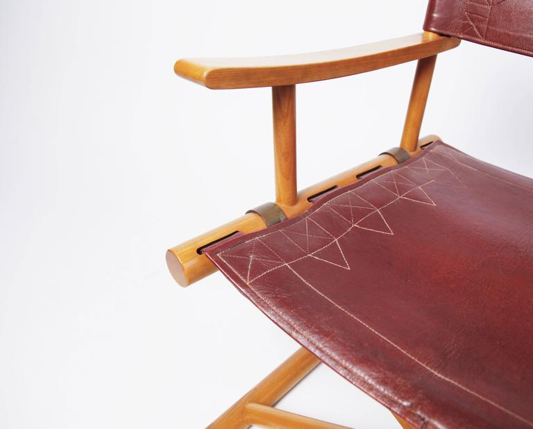Swedish Leather Director's Chair by Sune Lindström For Sale