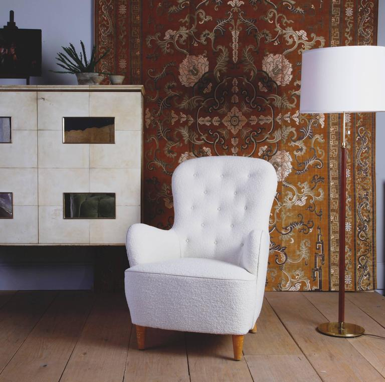 The Graceful Spoon Shape Of This Swedish Moderne Lounge Chair Brings A  Comfortable Streamlined Elegance To