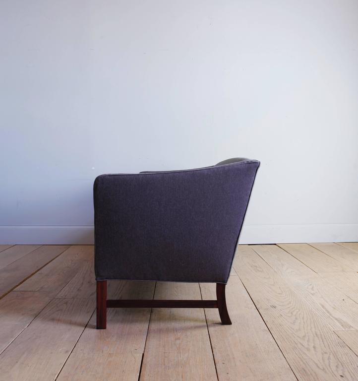 Danish Three-Seat Sofa with Brazilian Rosewood Legs by Ole Wanscher For Sale