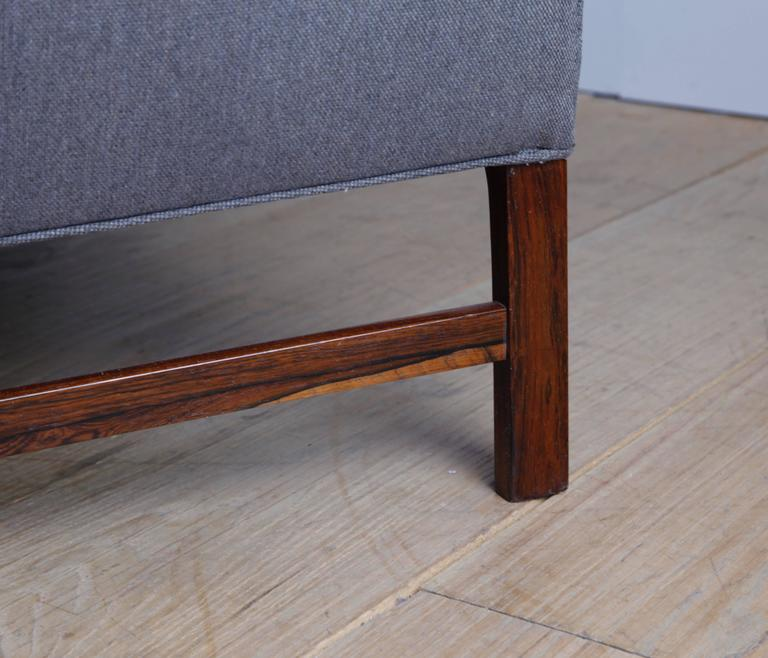 Three-Seat Sofa with Brazilian Rosewood Legs by Ole Wanscher In Excellent Condition For Sale In New York, NY