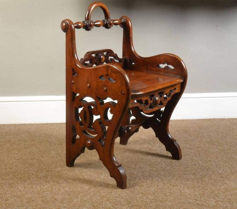 Pair of Early Victorian Mahogany Hall Chairs in the Manner of Richard Bridgens 2