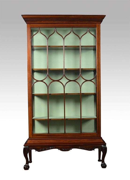 Large Chippendale Revival Single Door Display Cabinet At 1stdibs