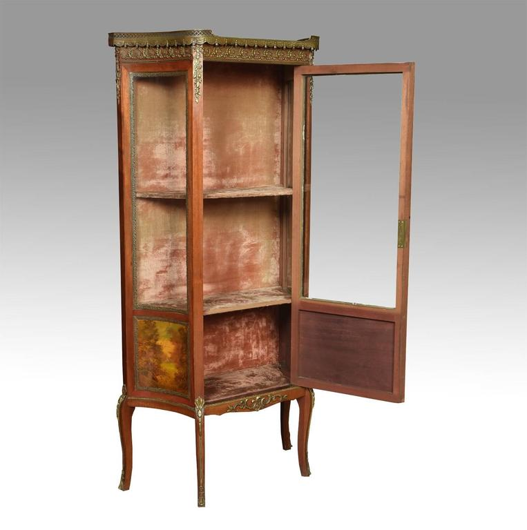 French Vernis Martin Mahogany Display Cabinet in the Louis XV Manner 2