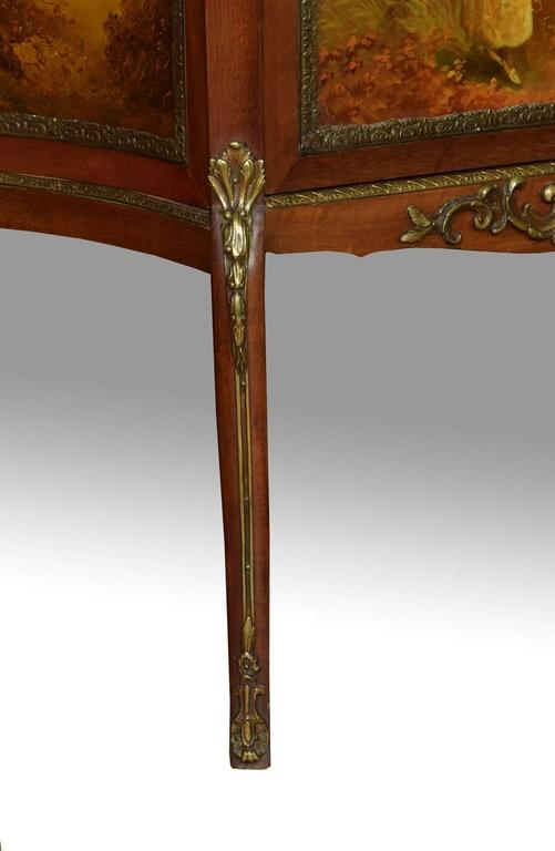 French Vernis Martin Mahogany Display Cabinet in the Louis XV Manner 5