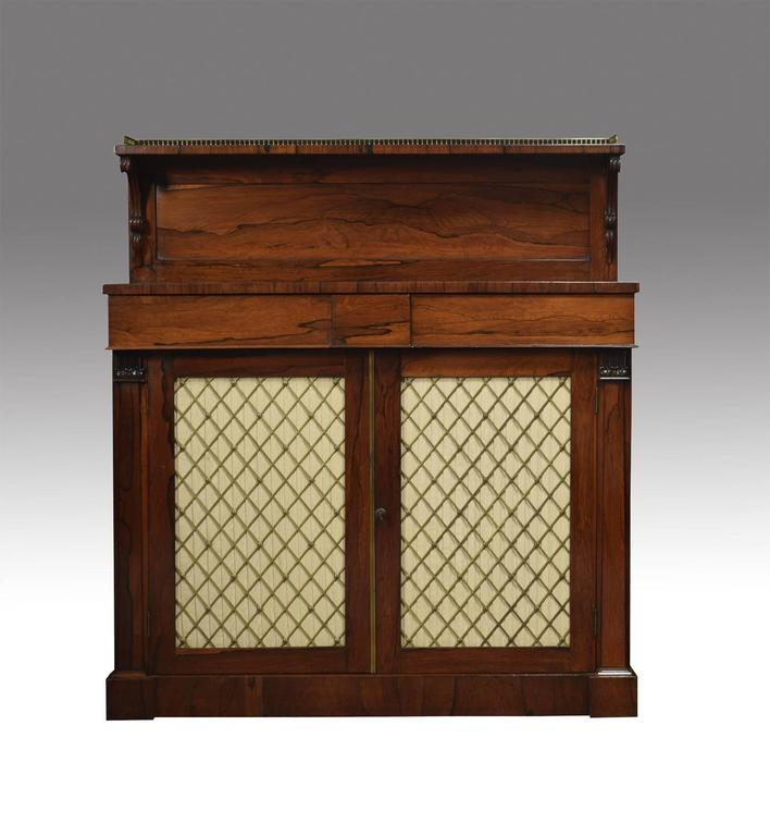 Regency Rosewood Two-Door Chiffonier 3