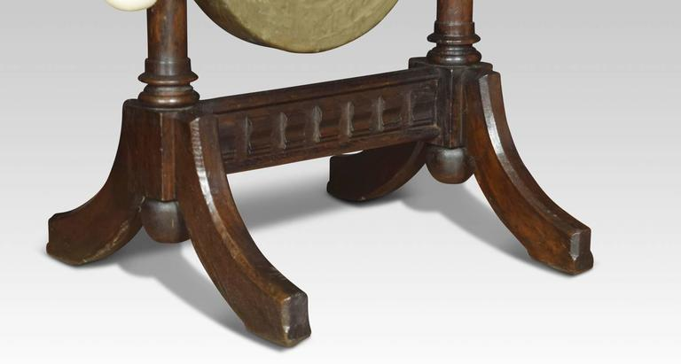 gothic revival oak dinner gong for sale at 1stdibs. Black Bedroom Furniture Sets. Home Design Ideas