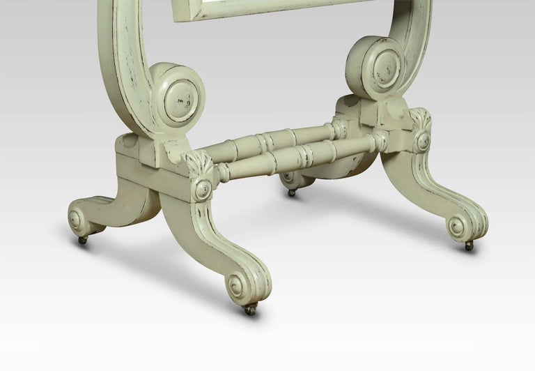 Great Britain (UK) Regency Painted Cheval Mirror For Sale