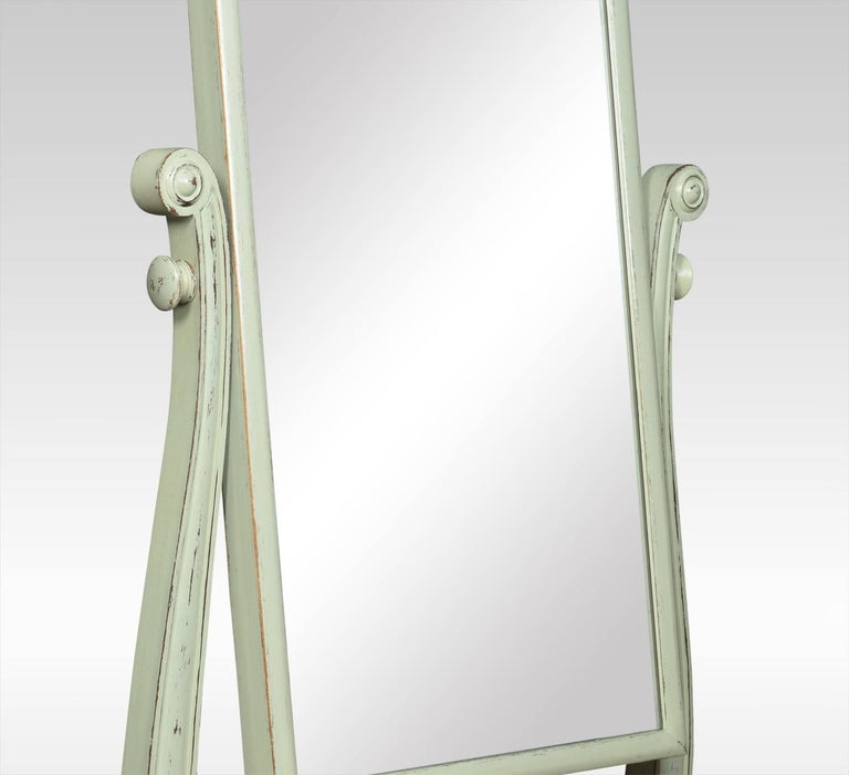 Regency Painted Cheval Mirror In Good Condition For Sale In Cheshire, GB